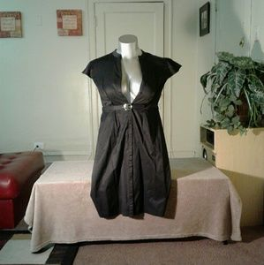 Merona Black Dress with Belt